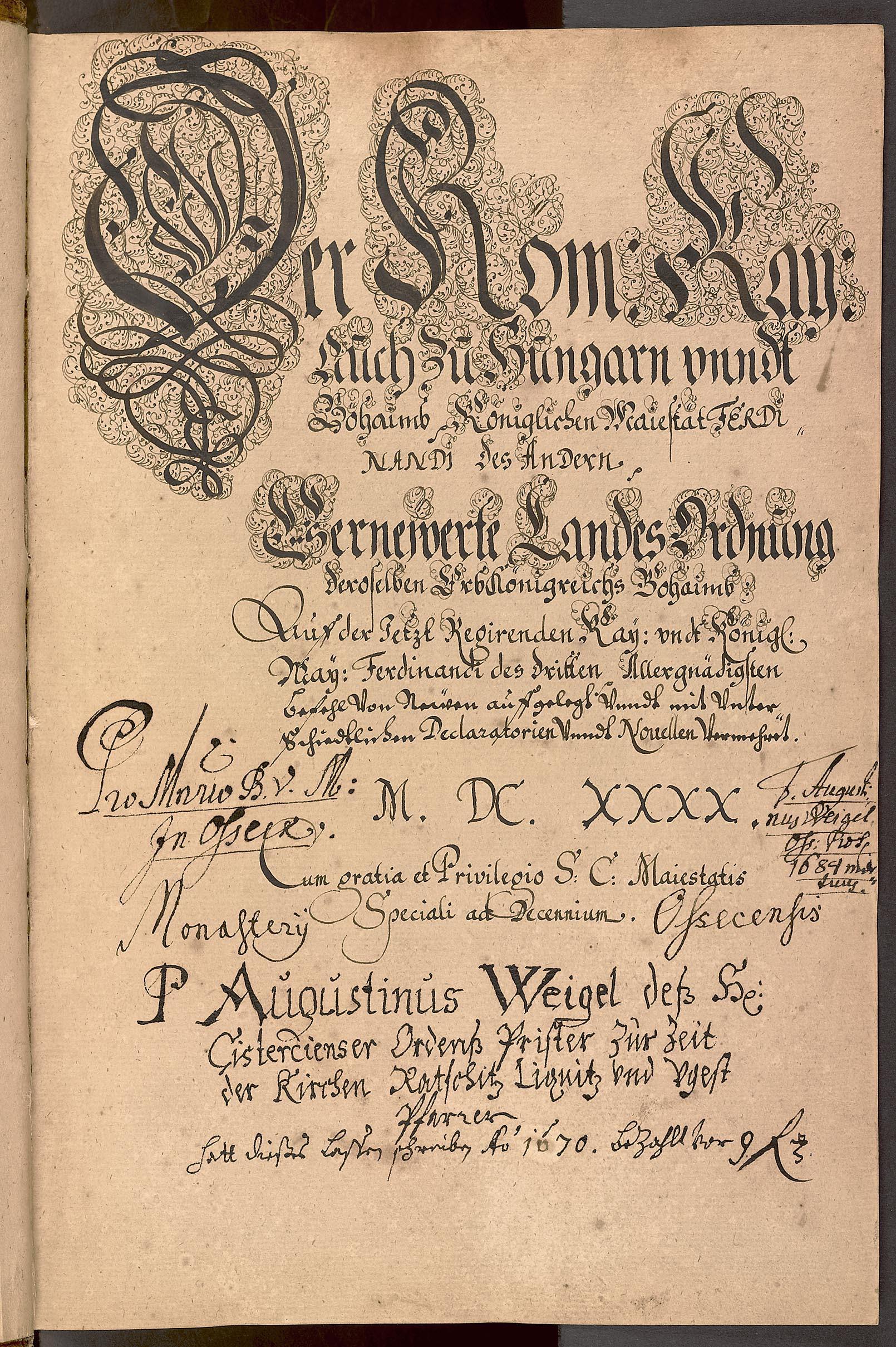 Soubor opisů právních textů (Obnovené zřízení zemské a související dokumenty)