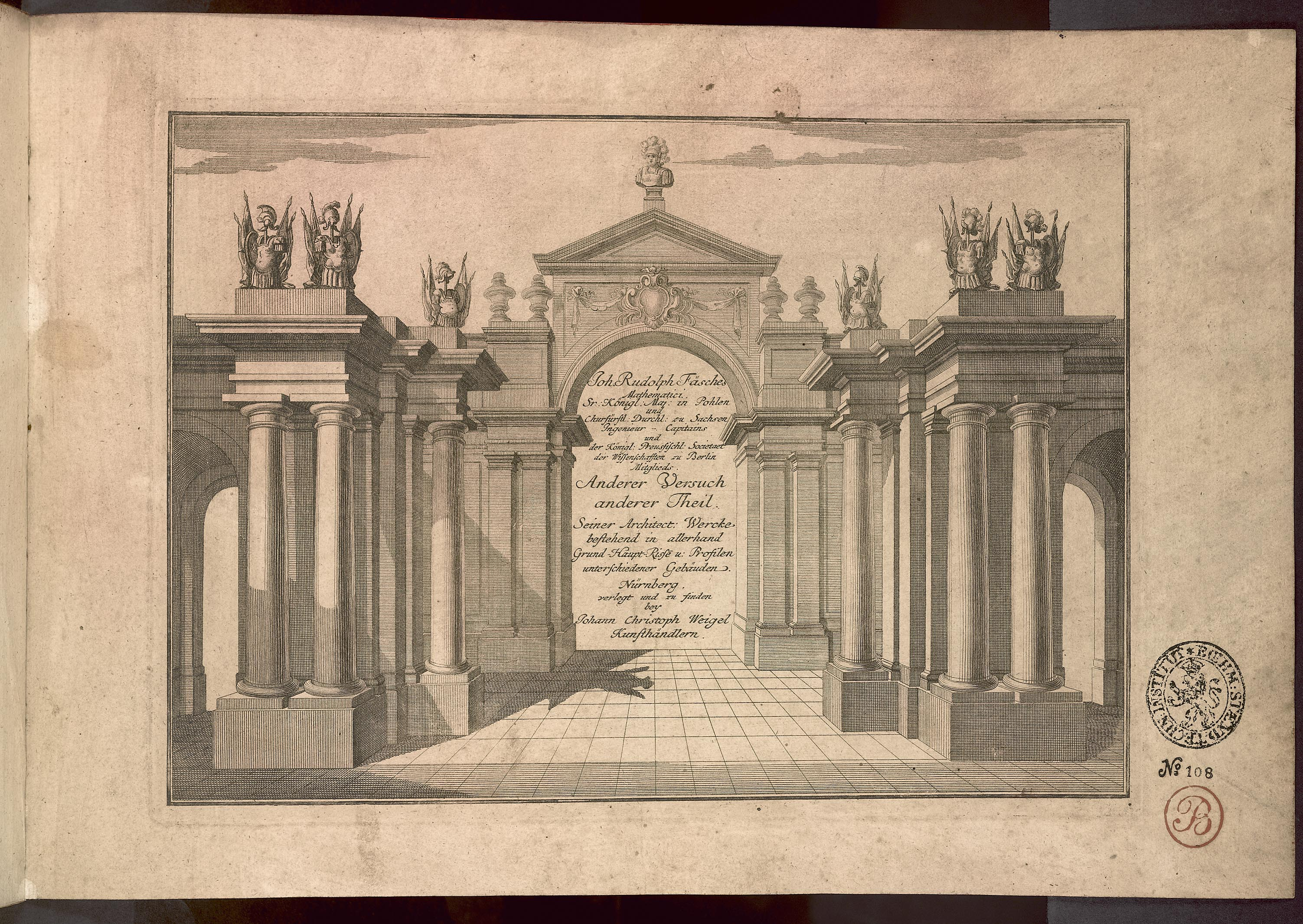 Johann Rudolph Fäsch: Anderer Versuch seiner architektonischen Werke. Anderer (zweiter) Teil