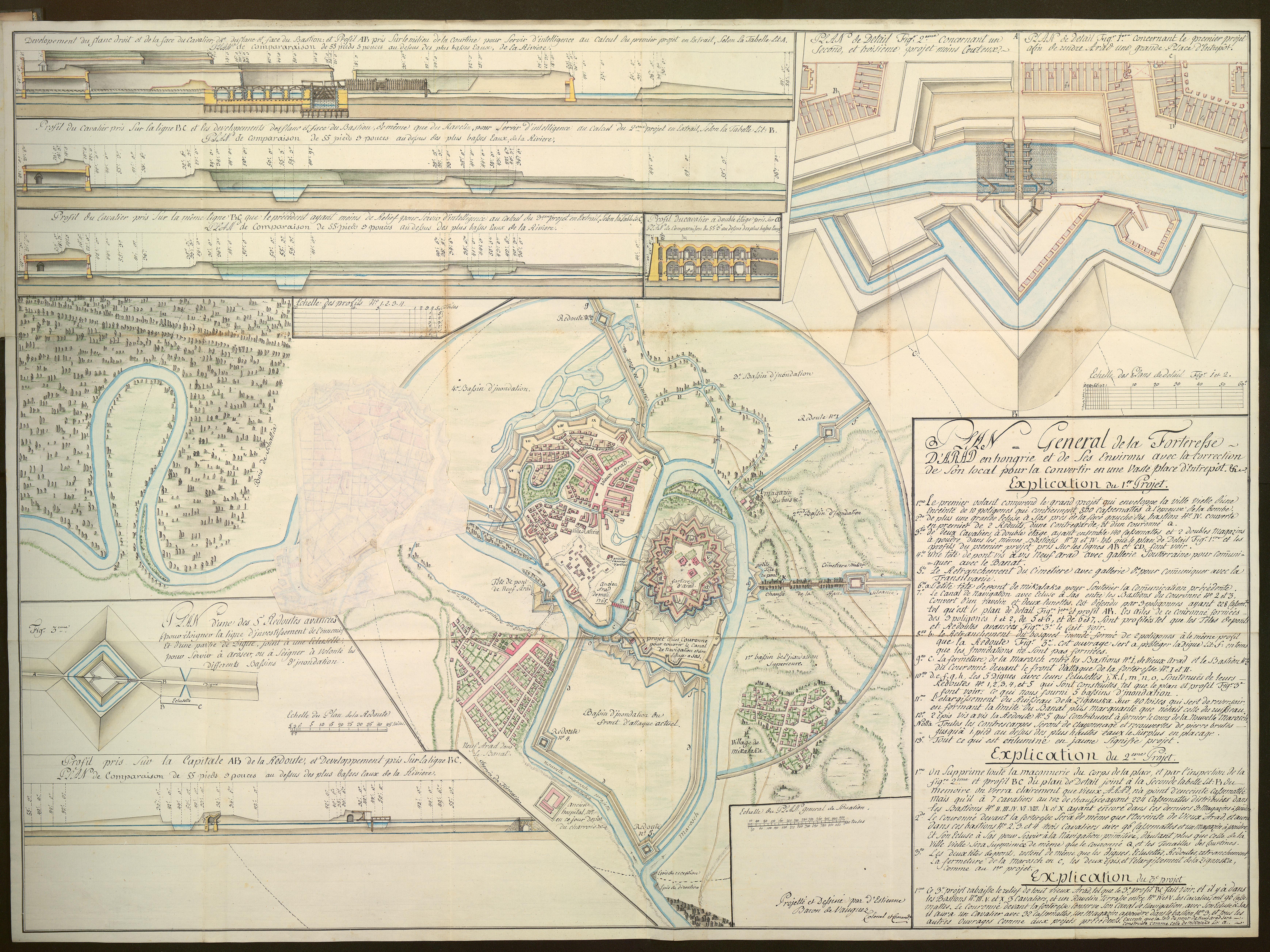Jean Baptiste d'Estienne de Vauguez: Memoire sur l'exitance, l'emplacement, la construction des ouvrages de la fortification d'Arad