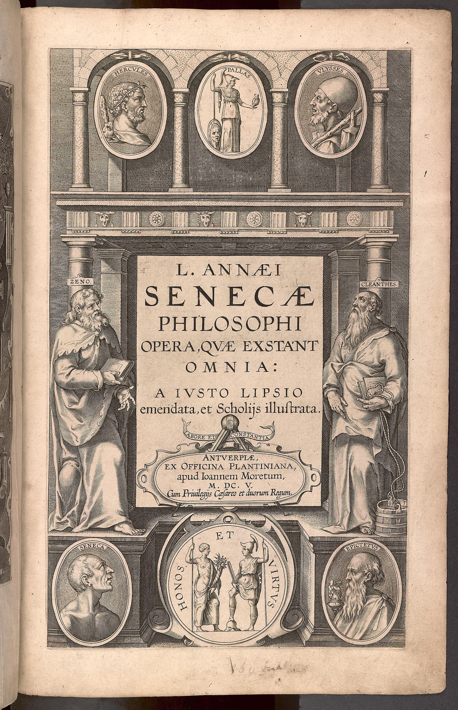 L. ANNAEI SENECAE PHILOSOPHI OPERA, QVAE EXSTANT OMNIA